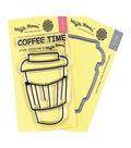 Waffle Flower Stamp & Die Set-Coffee Time