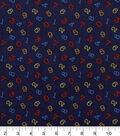Nursery Cotton Fabric 43\u0022-Bright 123 Tossed