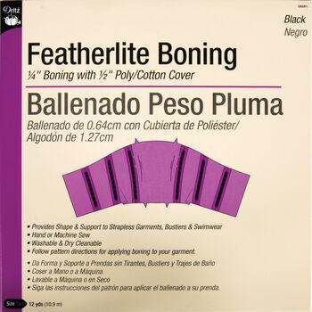 Featherlite Boning 12 Yards - Black