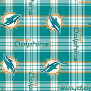 Miami Dolphins Fleece Fabric 58''-Plaids, , hi-res