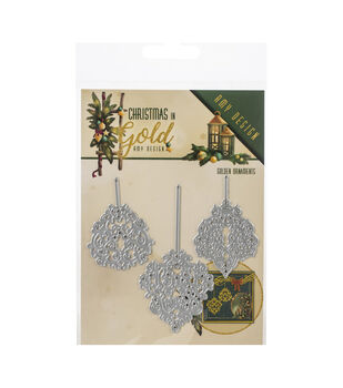 Find It Trading Amy Design Die-Ornaments, Christmas In Gold