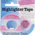 Highlighter Tape .5\u0022X393\u0022-Pink