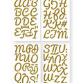 Iron-On Art Ultra-Glitter Letters-Gold