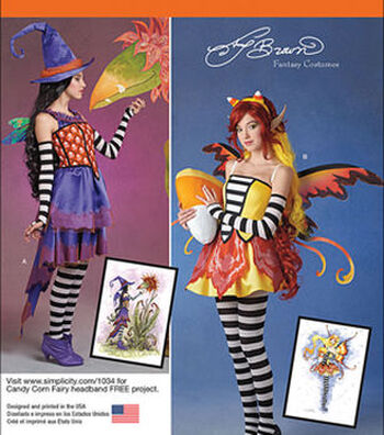 Simplicity Patterns 1034-Misses' Amy Brown Fairy Costumes