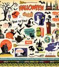 Haunted House Cardstock Stickers 12\u0022X12\u0022-Elements