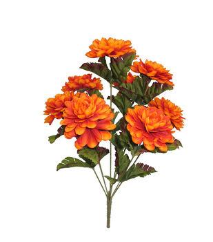 Faux flowers floral stems sprays joann blooming autumn 15 marigold bush orange mightylinksfo