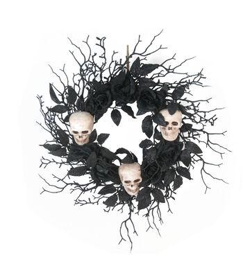 Maker's Halloween Wreath with Skulls