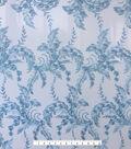 Sew Sweet Mesh Fabric-Icy Blue Embellished