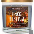 Hudson 43 Candle & Light Fall 14 oz. 3-wick Fall Festival Candle