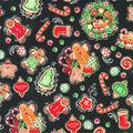 Christmas Cotton Fabric-Christmas Goodies Black