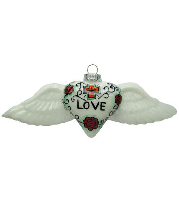 Maker's Holiday Christmas Love Wings Ornament