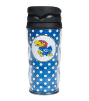 University of Kansas Polka Dot Travel Mug, , hi-res