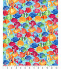 Novelty Cotton Fabric -School Of Fish