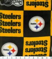 Pittsburgh Steelers Fleece Fabric -Block, , hi-res