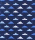 Blizzard Fleece Fabric -Blue & White Triangles