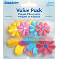 Simplicity Iron-On Applique-Assorted Daisy Flowers-Pack 8 pcs