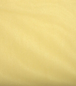 "Shiny Tulle Fabric 108""-Eggnog"