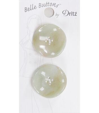 Dritz Belle Button Fashion Fluted Green 27mm