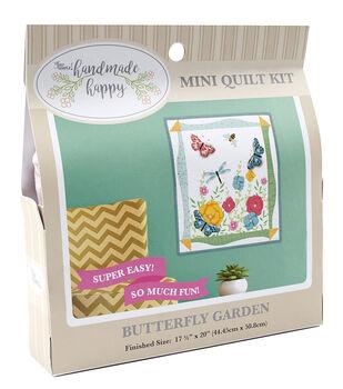 Sew Simple Handmade Happy Mini Quilt Kit-Butterfly Garden