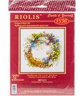 RIOLIS 11.75\u0027\u0027x11.75\u0027\u0027 Counted Cross Stitch Kit-Wreath with Bird Cherry