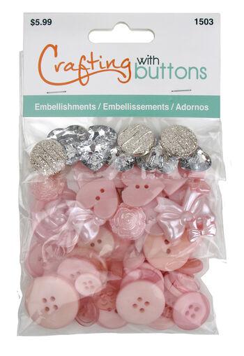 Pink Vintage 3 Tier Button Bag