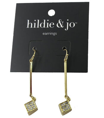 hildie & jo 1.88''x''0.38 Square Gold Earrings