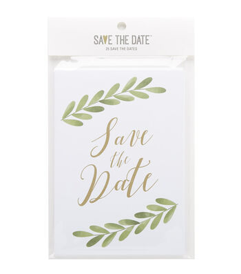 Greenery Save The Date Cards 25ct