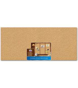 The Board Dudes 16''x36'' Canvas Style Corkboard