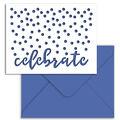 Park Lane A2 Cards & Envelopes-Blue Celebrate