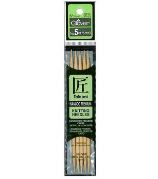 "Takumi Bamboo Double Point Knitting Needles 5"" 5/Pkg-Size 5/3.75mm"