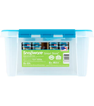 Snapware Smart Home 16 x 6  with turquoise handles and lid