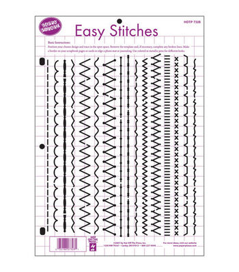 "Hot Off The Press 8-1/2""x11"" Templates-Easy Stitches"