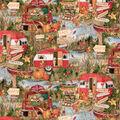 Novelty Cotton Fabric-Fall Camping Fun