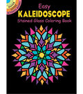 Adult Coloring Book-Dover Publications Easy Kaleidoscope Stained Glass