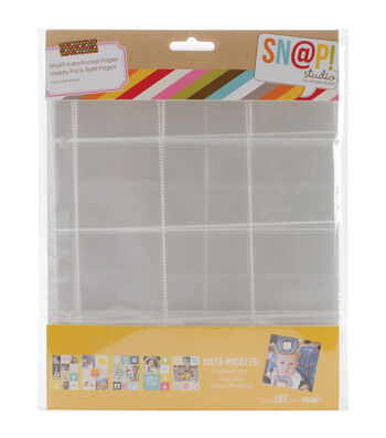 "Sn@p! Insta Pocket Pages For 6""X8"" Binders 10/Pkg-Variety Pack"