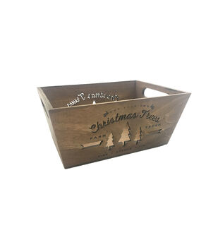Handmade Holiday Christmas Wood Crate-Cut-Your-Own Christmas Trees