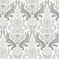WallPops NuWallpaper Grey Nouveau Damask Peel  & Stick Wallpaper