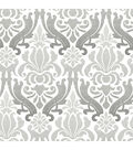 Wallpops Nuwallpaper Peel & Stick Wallpaper-Gray Nouveau Damask