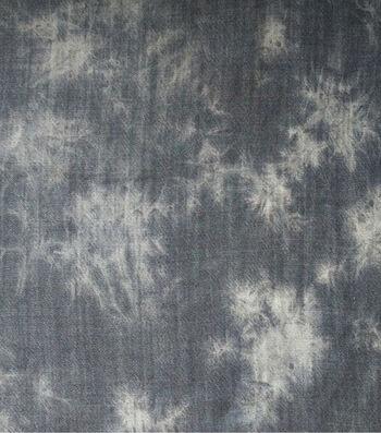 Sportswear Denim Fabric-Black Tie Dye