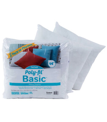 Poly-Fil Basic 2pk Pillow Insert 14x14""