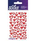 Sticko Mina Red Hearts Epoxy Stickers