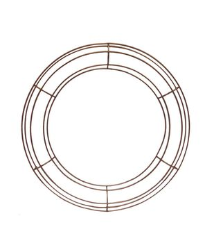 Blooming Autumn 15'' Metal Round Frame-Copper