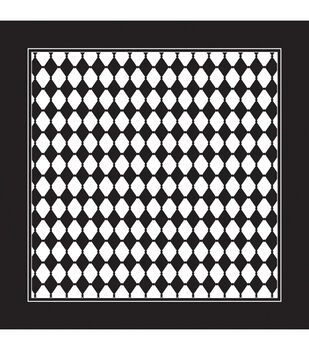 "Carolina Domestic Bandanna 22""X22""-Black/White Diamond"