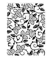 Darice Holly Vines Embossing Folder, , hi-res