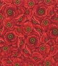 Premium Cotton Fabric-Poppy Multi Burst
