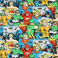 DC Comics Fleece Fabric 58\u0022-Packed Heroes