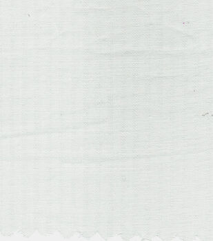 Cotton Solid Shadow Stripe Fabric-White