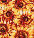 Anti-Pill Plush Fabric-Packed Sunflowers