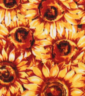 """Anti-Pill Plush Fabric 58""""-Packed Sunflowers"""