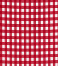 Stretch Gingham Check Fabric-Red